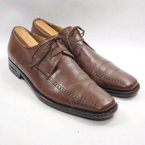 Mezlan | Davinci Brown Leather Oxford Shoes 9.5